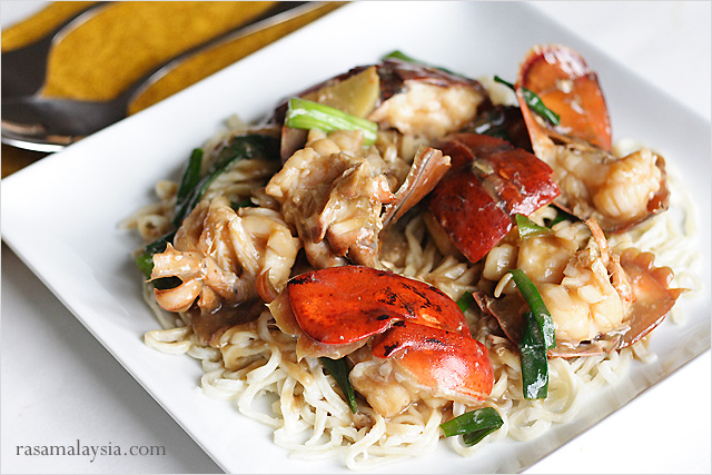 Lobster Yee Mein Recipe (Lobster Noodles with Ginger and Scallions ...