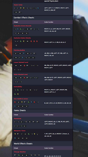 CHEAT CODES FOR GTA V screenshot 6