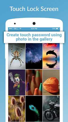 touch lock screen - touch photo position password screenshot 2