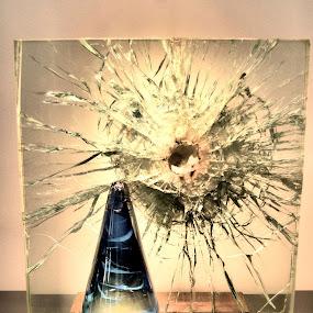 Shattered glass by Jim Davis - Abstract Fine Art ( broken, sculpture, shattered, art, glass, cracked )