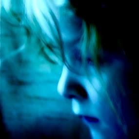Girl In Blue by Xn Tyler - Babies & Children Child Portraits ( kalamazoo, michigan, kincaid, lawton, kincade, xn tyler, mi, face, photography, closeup, close, up, Emotion, portrait, human, people )