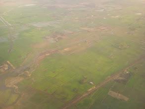 Photo: A takto vypadá zemědělské hospodářství v okolí Yangonu.