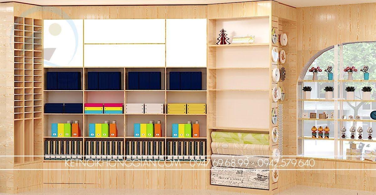 thiết kế nhà sách văn phòng phẩm tại hà nội