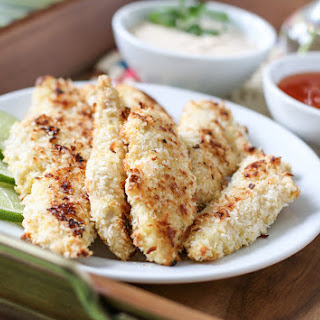 Baked Coconut Chicken Strips.