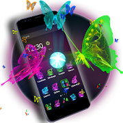App 3D Neon Butterfly Theme APK for Windows Phone