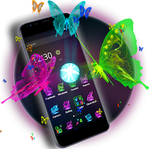 3D Neon Butterfly Theme - Android Apps on Google Play3d Neon Butterflies