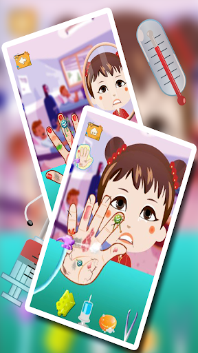 女の赤ちゃんの手のドクターキッドゲーム|玩教育App免費|玩APPs