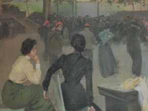 """Photo: """"Sardanes a la font de Sant Roc, d'Olot"""" Ramon Casas. Aquesta pintura fou pintada el 1902, i actualment es troba exposada a la Sala La Rotonda del Cercle del Liceu de Barcelona"""