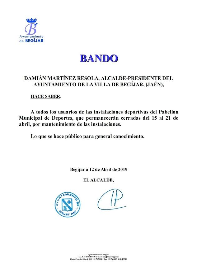 Bando Cierre Pabellon