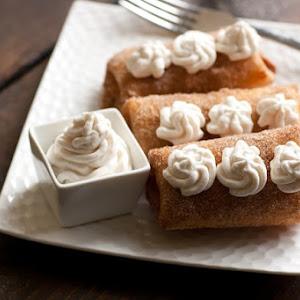 Apricot Dessert Chimichangas With Mascarpone Cream