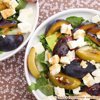 Autumn Welcoming Salad With Plums & Feta Cheese