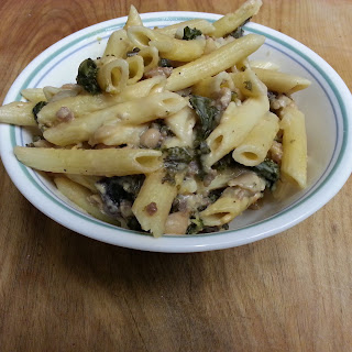 Penne with Creamy Kale and Canellini Sauce