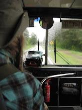Photo: Michał wsiada na rower i rusza ku Supraślowi. My robimy to samo, z tym, że autobusem do którego wskakujemy w ostatniej sekundzie.