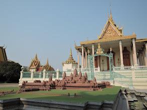 Photo: Phnom Penh, Königspalast - Modell von Angkor Wat