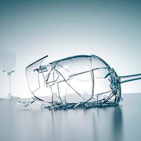 broken wine glass by Markus Gann - Digital Art Things ( change, drop, yellow, party, mug, macro, cold, drink, pour, dark, black, wine, fruit, vine, white, damage, pointed, shape, health, arrangement, beverage, alcohol, concept, unique, harm, pair, crush, line, goblet, life, ice, glass, transparent, closeup, water, dish-ware, sharp, crisp, green, broken, two, new, hurt, remain, blue, freeze, background, fall, injury, design,  )