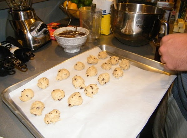 Scoop out 1 tablespoon balls, place on parchment paper and refrigerate for about an...