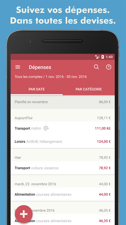 Toshl Finance - Budgets – Capture d'écran
