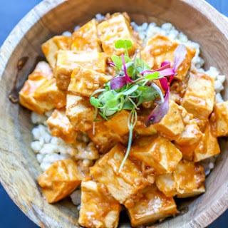 Tofu with Spicy Peanut Sauce.