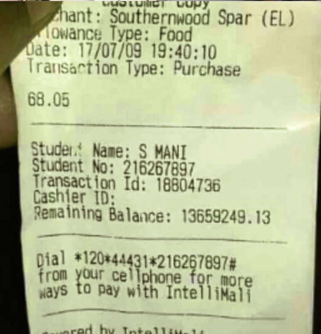 Sibongile Mani accidentally received a R14.1-million payment on her student debit card and allegedly blew over R800,000 of it.