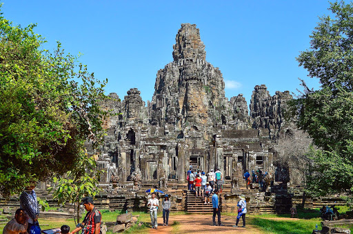 cambodia-ancient-temple2.jpg - Angkor Tom.  It was shocking to us that we – and hundreds of other tourists – were allowed to climb anywhere we wanted on the multistory historic monument.
