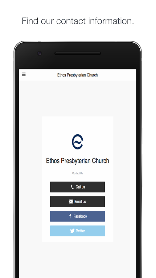 Ethos Presbyterian Church- screenshot