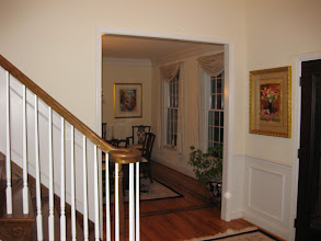 Photo: (Before) Flores' Doorway to Dining room, and stair work Medford, NJ