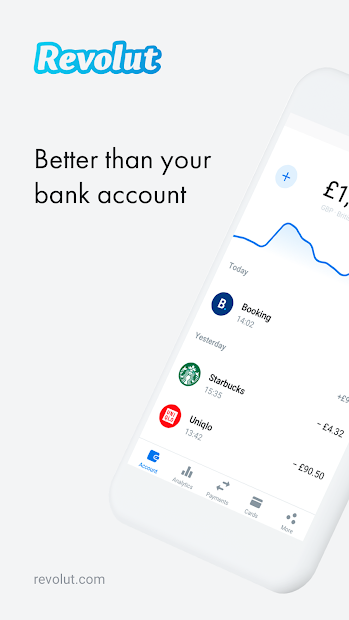 Revolut - A Radically Better Account Android App Screenshot