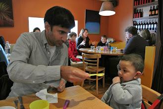Photo: Feraz putting all his Chacha skills to work.
