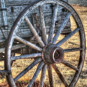 Country Wagon Wheel  by D.M. Russ - Artistic Objects Other Objects ( wheel, wagon wheel, wagon, d.m. russ,  )