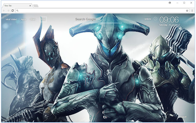 Warframe Hd Wallpaper New Tab Themes