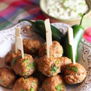 Southwest Turkey Meatballs with Creamy Avocado Dip