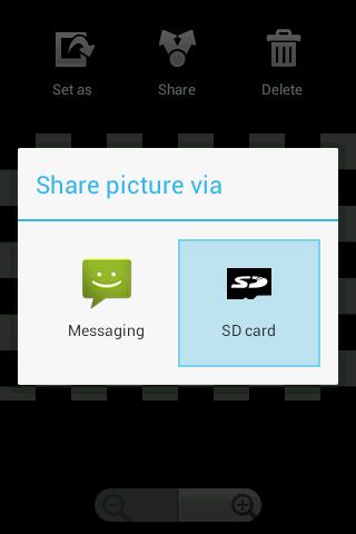 Send to SD card screenshot 1