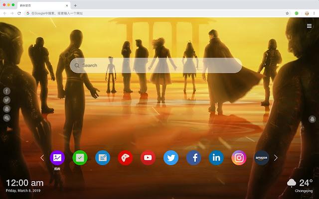 Avengers Endgame New Tabs HD Pop Themes
