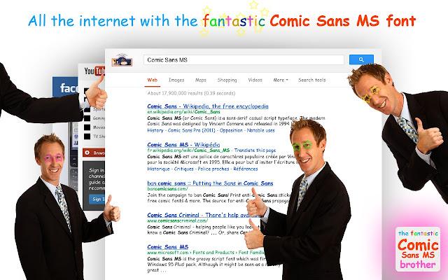The Fantastic Comic Sans MS Browser