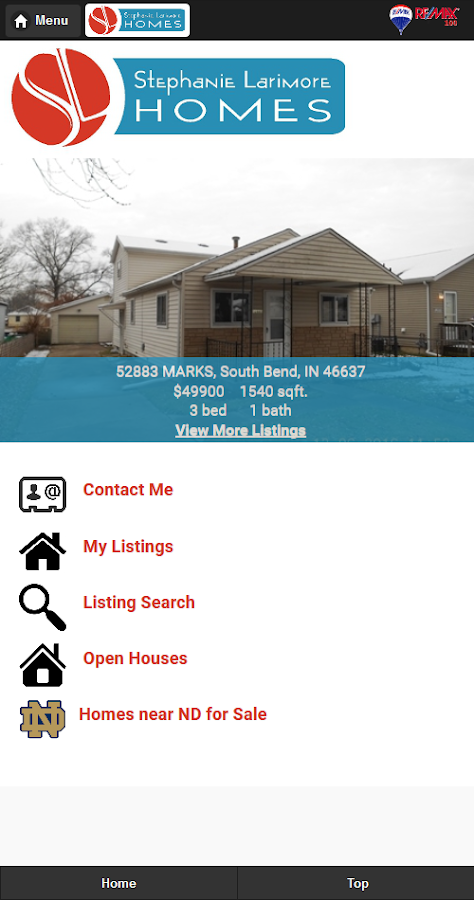 Stephanie Larimore Homes- screenshot