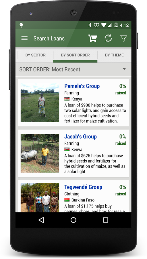 Kiva Search- screenshot