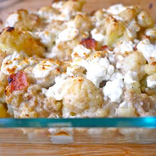 Cauliflower and Bacon Au Gratin (paleo, GF, dairy-free)