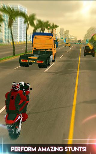 Amazing Spider 3D Hero: Moto Rider City Escape screenshot 4