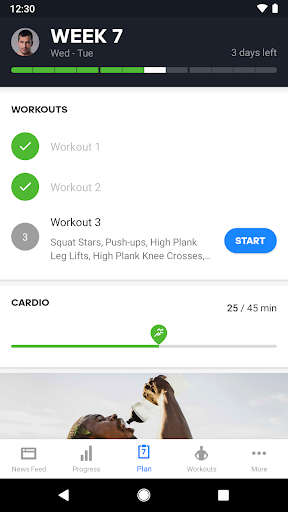 Runtastic Results: HIIT Workout Planner & Timer screenshot