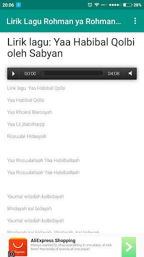 Download Lirik Lagu Ya Habibal Qolbii Sabyan Google Play