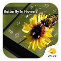 Flower And Butterfly In Summer icon