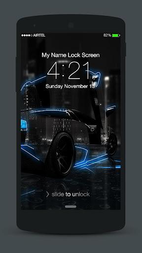 Neon Cars Lock Screen 3.0.2 screenshots 3
