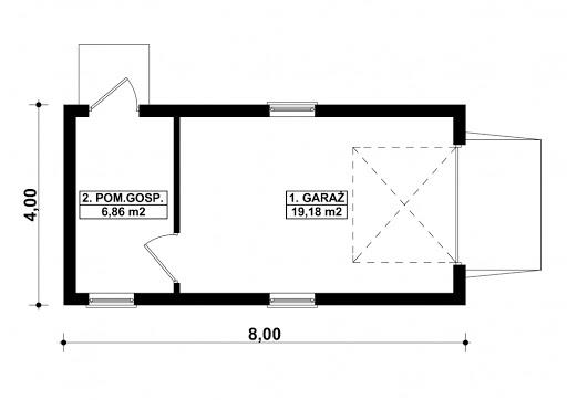 G37 - Rzut garażu