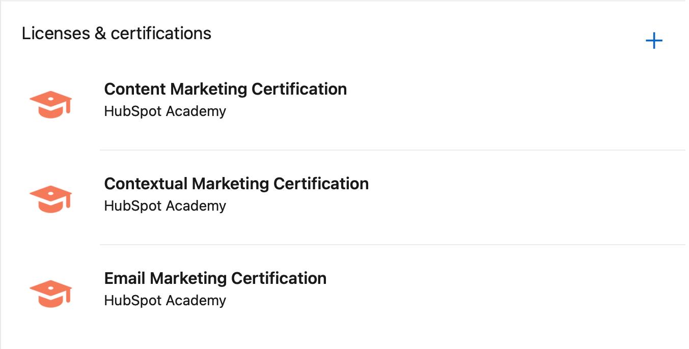 HubSpot certifications