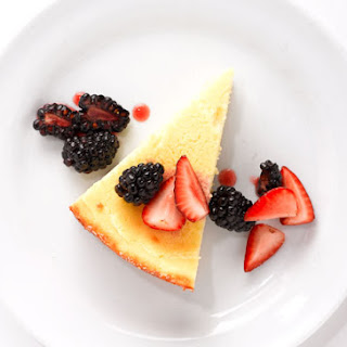 Goat Cheese Cake with Mixed Berries