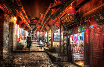 Photo: The roads of Ancient China at the Witching Hour  This is the ancient city of Lijiang... a wonderful place I recommend if you want to get away from the more well-known cities in China.