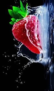 Nature live wallpaper (strawberry, fruit, splash) - náhled