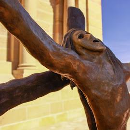 CRUCIFIXION by Jennifer  Loper  - Buildings & Architecture Statues & Monuments ( crucifixion, christ, jesus, jennifer, santa fe, cross, non-traditional, new mexico, loper )
