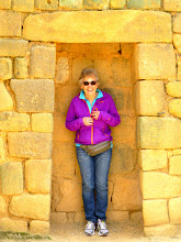 Photo: Sheila in the Inca wall