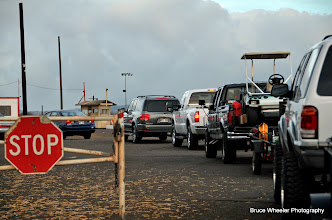 Photo: the problem with getting to the track late . . .